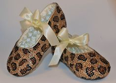 Leopard Print Baby Rhinestone Shoes Swarovski door SweetTipToes