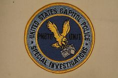 US United States Capitol Police Special Investigations Patch Obsolete