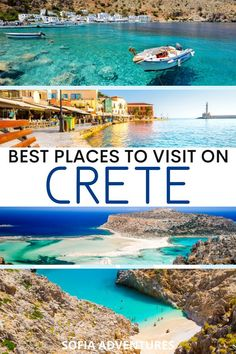Wondering where to go in Crete for your vaation? We describe thirteen of the best places to visit in Crete, from sunny beaches to secluded villages. Family Trips, Family Travel, Girl Travel, Travel Couple, Vacation Spots, Dream Vacations, Vacation Places, Greece Travel, Greece Vacation