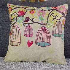 kissenbez ge 45x45 gr n pflanzen bilder deko leinen sofa kissen kissenh llen my pins. Black Bedroom Furniture Sets. Home Design Ideas