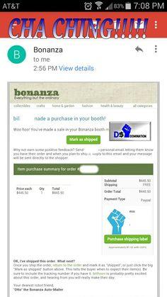 1st Bonanza sale from yesterday! #SoWhatImLate #Hashtag #TheyAintReady #SpringBreak dropshipmeek.com