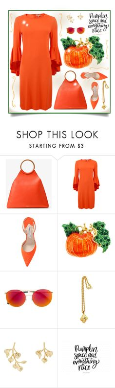 """Pumpkin Spice"" by outfitsloveyou ❤ liked on Polyvore featuring Michael Kors, Manolo Blahnik, Linda Farrow, Chanel and Kenneth Jay Lane"