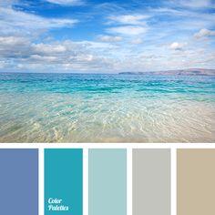 Living room. Wall 1 light blue, walls 2&3 sand, curtains light navy, teal door, silver room decor.