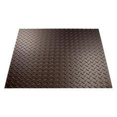Fasade® Diamond Plate - 4' x 8' PVC Wall Panel