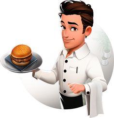 Waiter Character