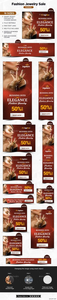 Fashion Jewelry Banners - Banners & Ads Web Elements