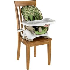 Infant-Feeding-Booster-Portable-Baby-Eating-Seat-Fisher-Price-Safety-Chair-Green