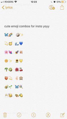 Emoji Combinations For Contacts Emoji Combinations Snapchat Emojis Emoji For Instagram