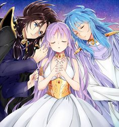 Hades, Athena e Poseidon
