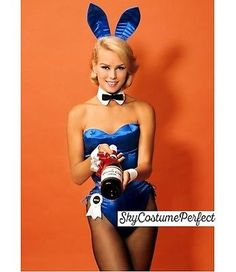 CUSTOM ! FREE WORLD WIDE SHIP Satin Playboy Bunny ANY COLOR SET EARS Costume