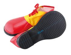 Adult Fancy Dress Clown Shoes Jumbo Clown Shoes Red//Yellow New by Smifys