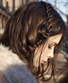 side braid beauty