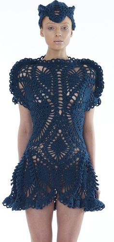 Laura Thesis - crochet sweater dress