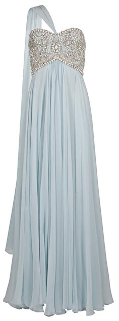 Marchesa Heavenly gown in a heavenly shade of blue