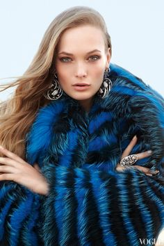 Helen Yarmak | Blue fox fur