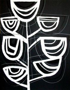 "Chalkboard 4 acrylic and chalkboard paint on plywood 18"" x 24"""