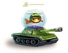 Daily Paint #1276. Fish Tank, Piper Thibodeau on ArtStation at https://www.artstation.com/artwork/L819r