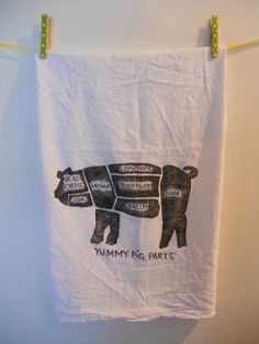 Yummy Pig Parts Kitchen Towel
