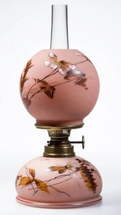 Very Rare Art Glass Miniature Oil Lamp