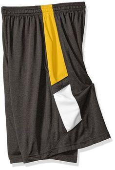 "NCAA Mizzou Tigers Men's Elite 10"""" Inseam Training Shorts, Large, True Black Heather"