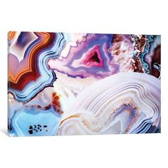 """East Urban Home A Vivid Metamorphic Rock on Fire Graphic Art on Wrapped Canvas Size: 26"""" H x 40"""" W x 0.75"""" D"""