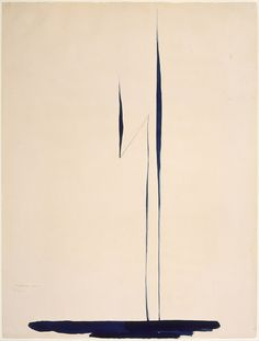 "Georgia O'Keeffe, ""Blue Lines X,"" 1916, watercolor and graphite on paper, 25"" x 19""."