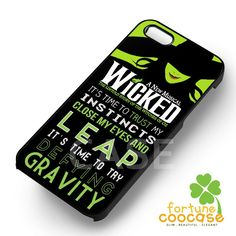 Wicked Musical Broadway - z321z for iPhone 6S case, iPhone 5s case, iPhone 6 case, iPhone 4S, Samsung S6 Edge