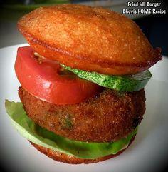 Fried Idli burger