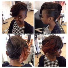 Hair by Diamond Dolls Using Famoushair, weaved and styled in salon