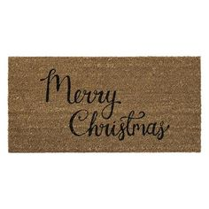 Made from durable coir with a black printed Merry Christmas text and starry design, our festive doormat will give a cheery welcome to holiday guests. Merry Christmas Text, Merry Christmas Everyone, Christmas Lights, Christmas Decorations, House Doctor, Christmas Doormat, Coir, How To Antique Wood, Jingle Bells