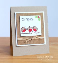 Hello - it's day two of the Clearly Besotted October release teasers and today I'm all about the Rockin' Robins! This is a great set with fabulous sentiments and gorgeous little robins with interc. Christmas Cards To Make, All Things Christmas, Handmade Christmas, Rockin Robin, Hello It, Year 2, Robins, Cardmaking, Stamping