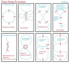 bridle-less:  soundtrack-for-lovers:  e-q-u-i-t-a-t-e:  I am loving these schooling exercises, they are super helpful and a great way to improve both horse and rider. [x] Exercises by Ali M.  I currently have the pinwheel of death set up but have been too scared to try it… the bounces one though… OMG   The pin wheel one is actually awesome!! We had one up for a while and it was fun once the horses figured out what they were doing, however, the bending bounces looks crazy I.o