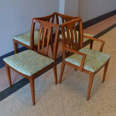 surfboard style mid century modern dining chairs by