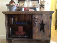 Primitive Amish Star Entertainment Center