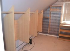 Doors Slanted Ceiling Closet Design With Diplomat Closet Design Closet Home Storage Designers