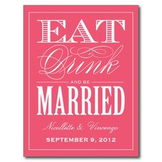 BE MARRIED | SAVE THE DATE ANNOUNCEMENT POSTCARD