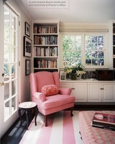 wingback chair and books...so cute