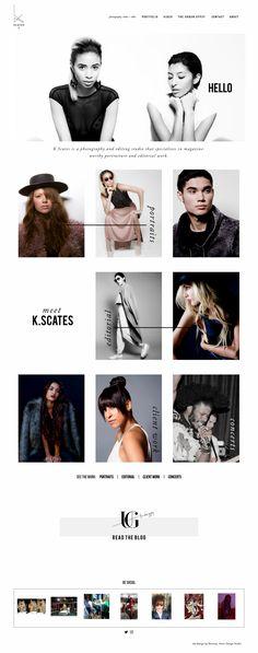 K Scates Photography, web portfolio design by Revamp, Amor Design Studio