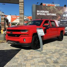 Pssst. @chevrolet has a whole line of specialty trucks on display at the @statefairoftx This red one made me drool! #truck #trucksofinstagram #z71