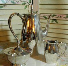 ANTIQUE GORHAM SILVERPLATE Coffee Pot - Tea Pot - Sugare and Creamer Set