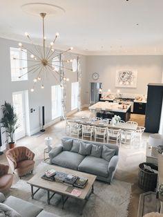 Home Room Design, Dream Home Design, Interior Design Living Room, Living Room Designs, Open Plan Kitchen Living Room, Home Living Room, Living Room Decor, Space Kitchen, Kitchen Dining