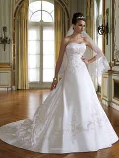 c7632f35c43c strapless crystal organza full a line wedding dress uk with pleated bust  line instyledress co  . Wedding Dresses 2014Abiti Da ...