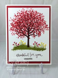 sheltering tree card ideas from stampin up | saw Tracy's card on Pinterest you can view the pin here . It is a ...