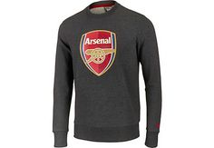 400b108bd04 Puma Arsenal Crest Sweat - Dark Grey Heather - SoccerPro.com