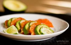 Avocado,+Orange+and+Cucumber+Salad, with lime, chili powder, cilantro, evoo, salt, pepper- yummmmm
