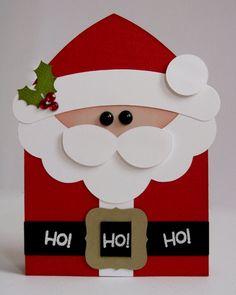 Card: A Santa Shaped Christmas Card by Mendi Yoshikawa