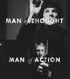 Sherlock Homles: Man of Thought / John Watson: Man of Action - Sherlock