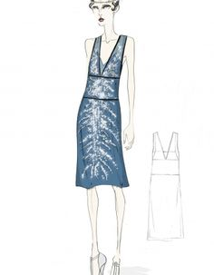 The Great Gatsby costume sketch by Prada