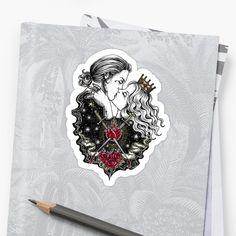 Gothic couple kissing. Original hand-drawn dark romance sticker perfect for this fall / autumn season. #redbubble tumblr stickers   gothic sticker   goth sticker   grunge sticker   artsy sticker   dark aesthetic   dark stickers   gothic kiss   gothic love   gothic couple   gothic romance Steampunk Fashion, Gothic Fashion, Kiss Art, Tumblr Stickers, Love Kiss, Dark Art, How To Draw Hands, Horror, Couple Kissing