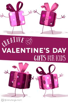 Creative Valentine's Day Gifts for Kids Valentine's Day Gift Ideas for Kids that are NOT candy! Valentines Day Gifts For Him Marriage, Valentines Day Couple, Valentine Day Gifts, Kids Valentines, Funny Valentine, Gifts For Boys, Girl Gifts, Creative Homemade Gifts, Valentine's Day Printables